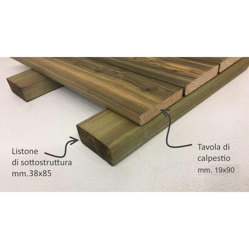 Kit pavimentazione in legno H. cm 5,7