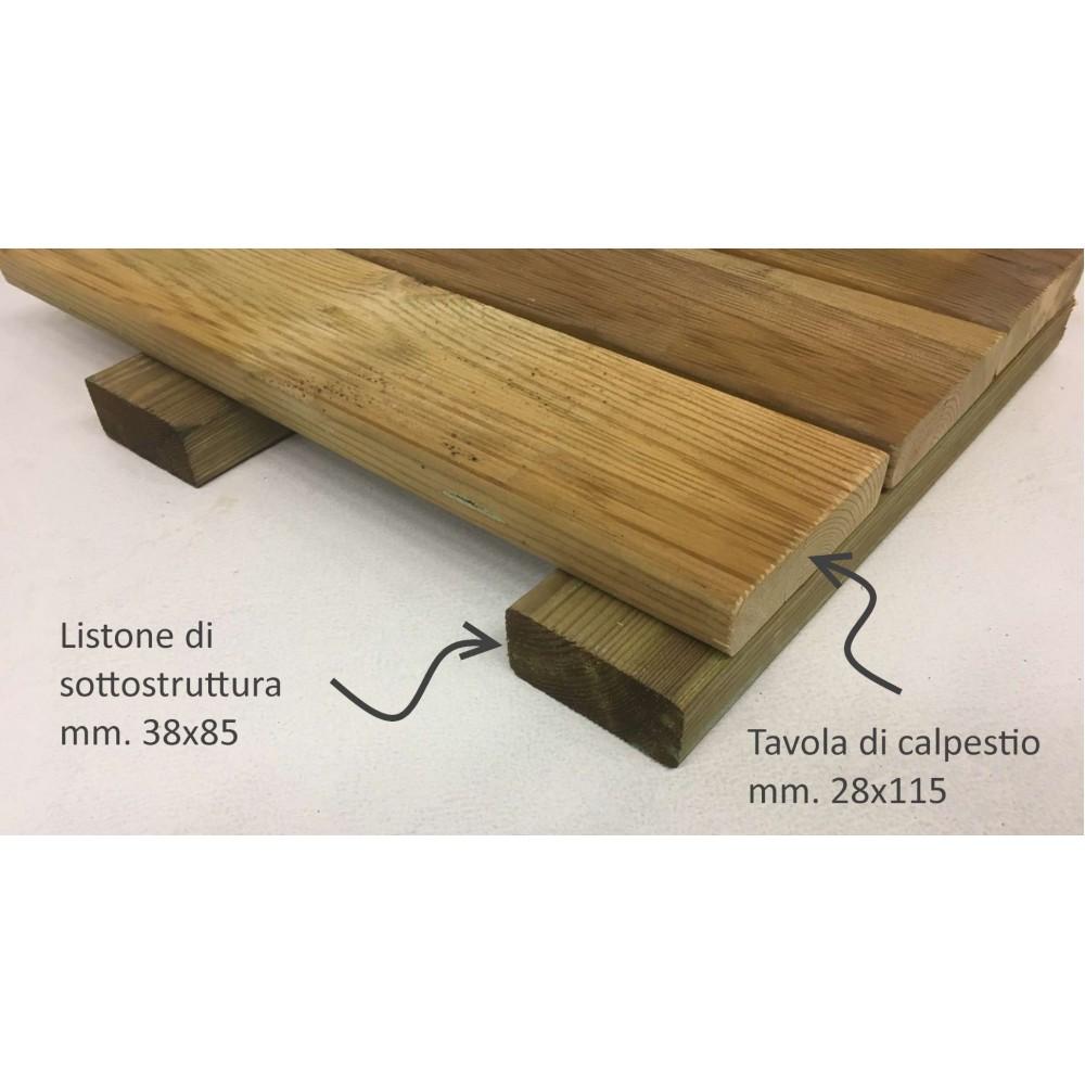 Kit pavimentazione in legno H. cm 6,6