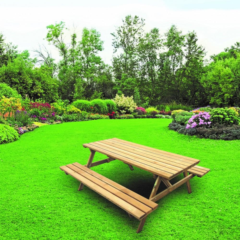 Tavoli in legno picnic Eco 180 cm x 167 cm x h 71 cm
