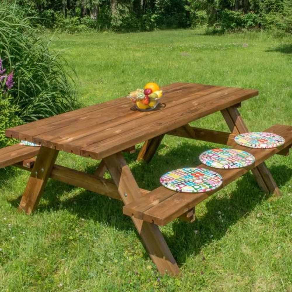 Tavoli in legno picnic Oasi 177 cm x 154 cm x h 74 cm