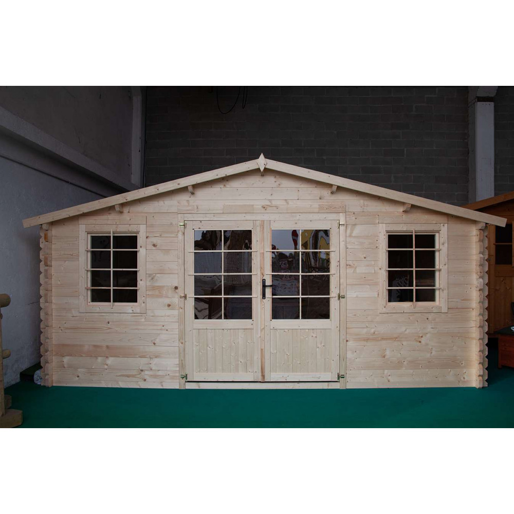 Casetta in legno Camilla 500 cm x 500 cm - h 252 cm