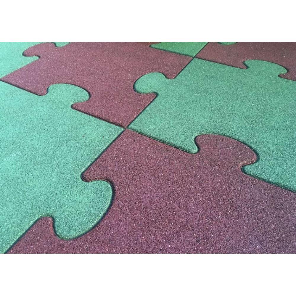 Quadrotta puzzle rossa 50 cm x 50 cm - h 4.5 cm