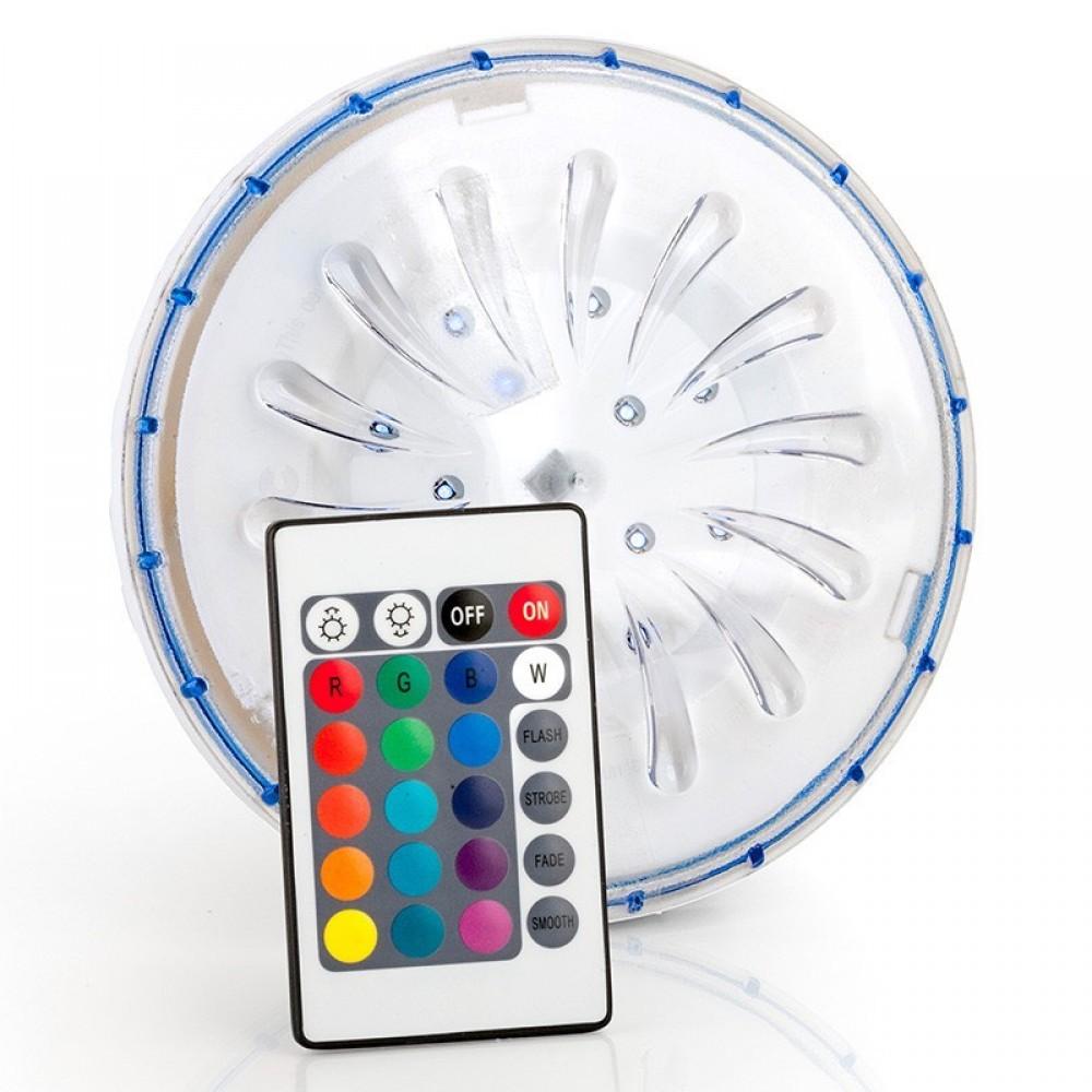 Faro per piscina a batteria a led multi colore telecomando Gre