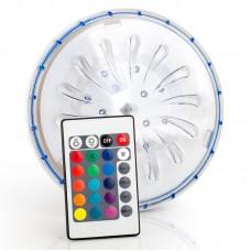 Faro per piscina fuori terra a batteria a led multi colore telecomando Gre