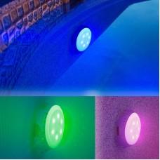 Faro per piscina fuori terra con alimentazione autonoma luce Colorata Gre