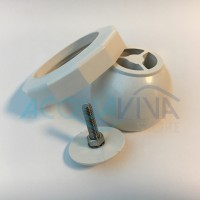 Kit Sfera orientabile con ghiera in ABS Ø60mm (filetto) Bocchette fino al 2009 Pools