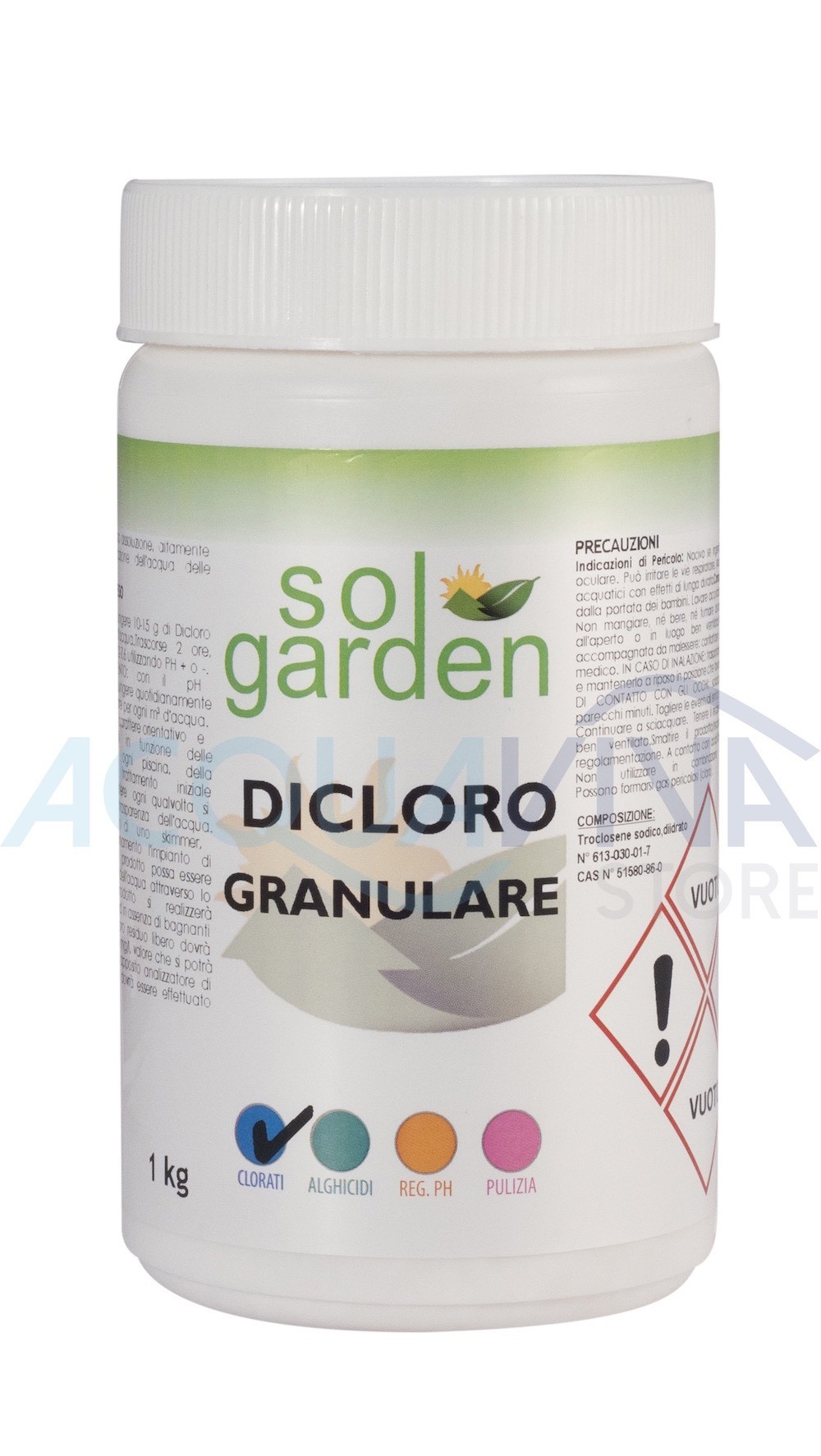 Dicloro - cloro Granulare 1Kg SolGarden