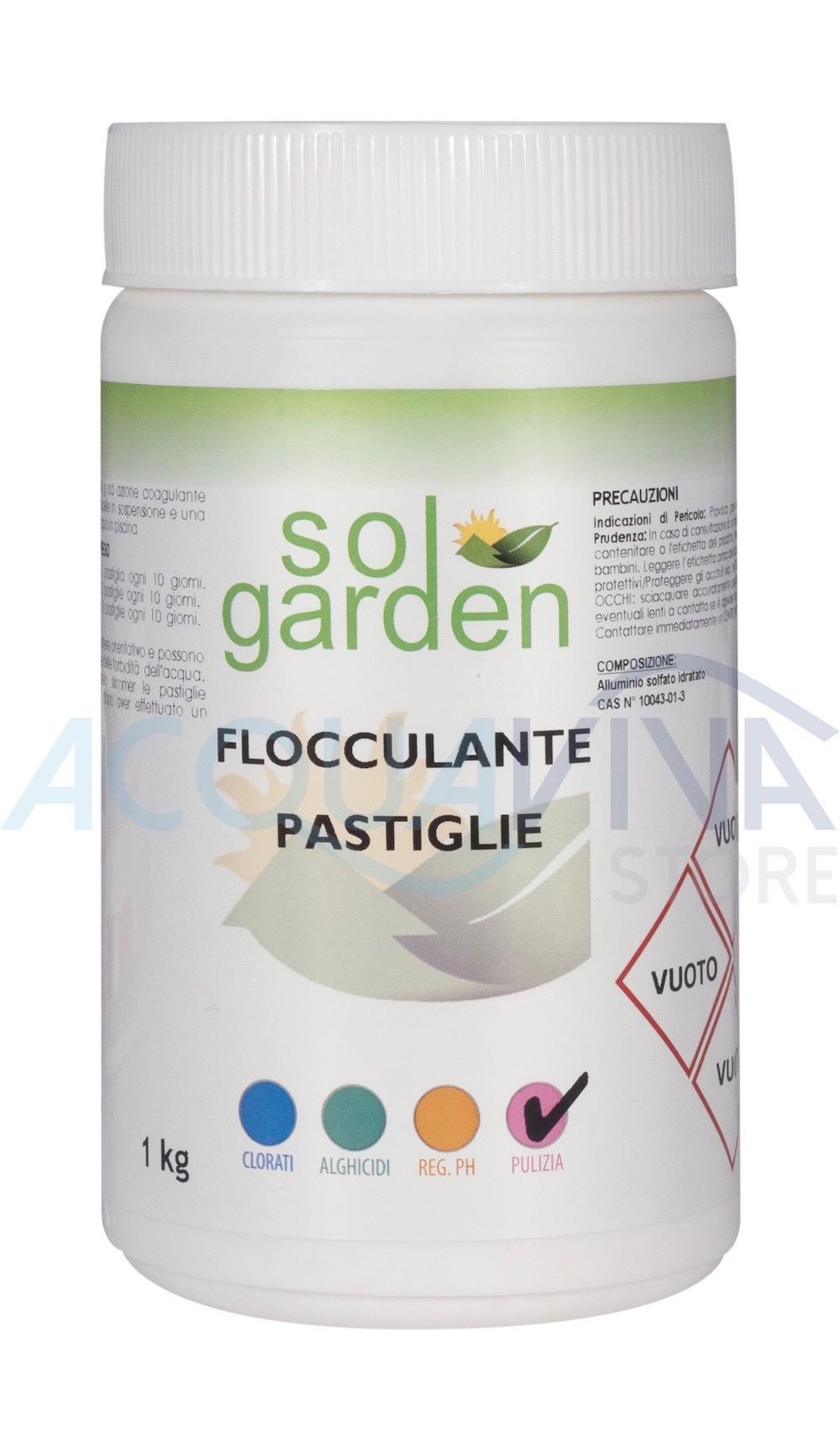 Flocculante in pastiglie 100g confezione da 1Kg SolGarden
