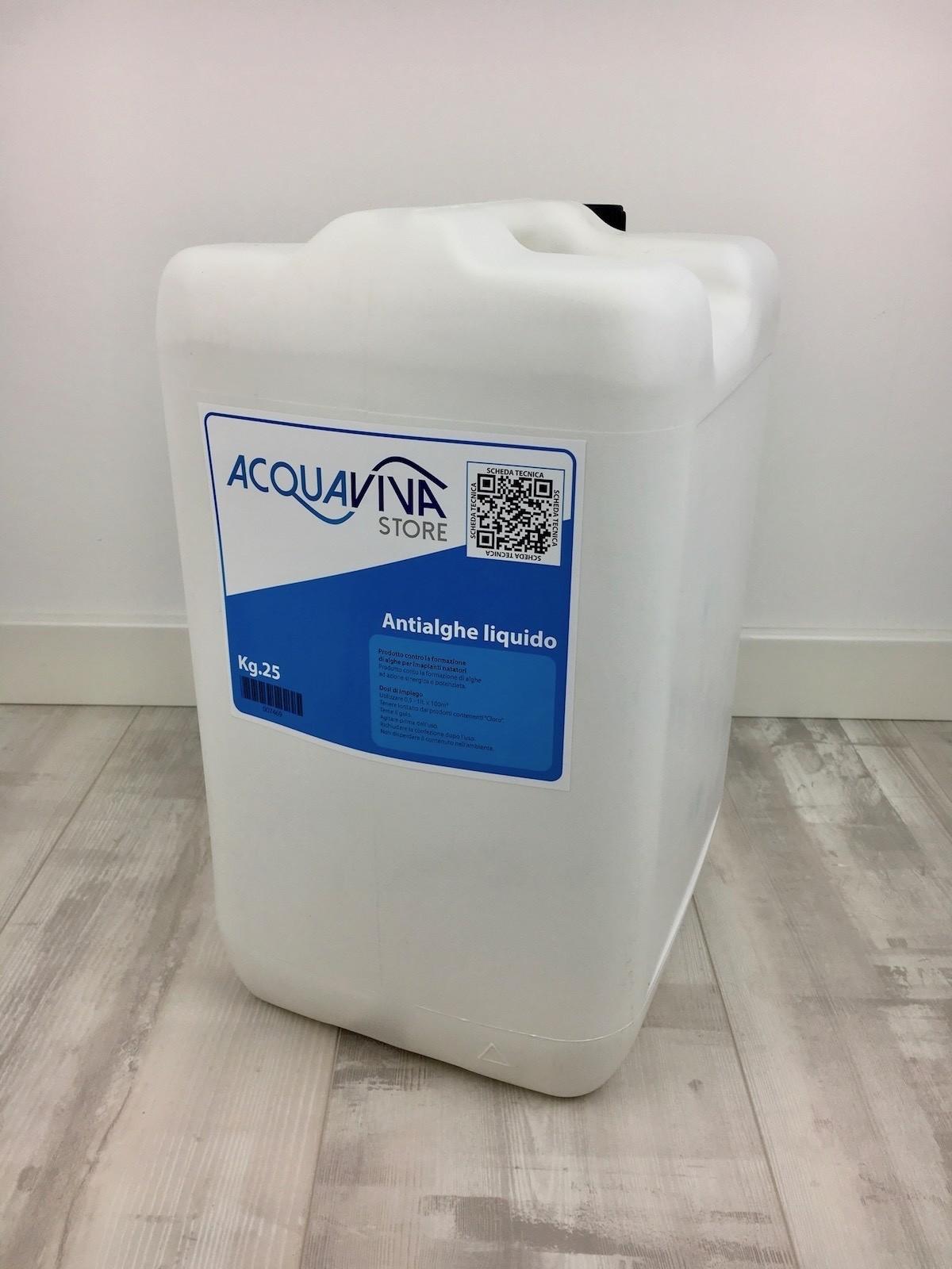 Antialghe da 25kg per piscine o fontane acquaviva store - Antialghe per piscina dosaggio ...