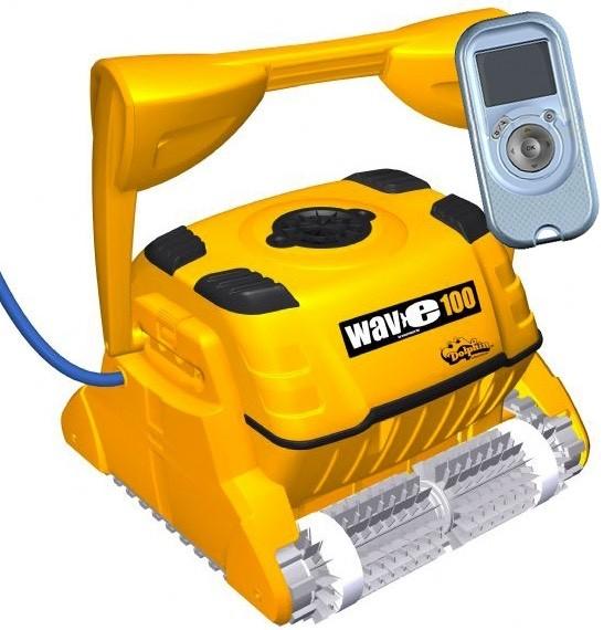 Dolphin Wave 100 Robot pulitore per piscina spazzole in PVC