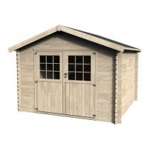 Flover Casetta in legno Quadrata Dimensioni esterne 298x298 cm - 8,88 m2 Spessore pannelli 28 mm