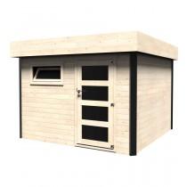 Evan Casetta in legno Quadrata Dimensioni esterne 300x300 cm - 9 m2 Spessore pannelli 28 mm