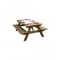 Tavolo picnic Forestiere Rettangolare Dimensioni esterne 88x200 cm - h 68 cm