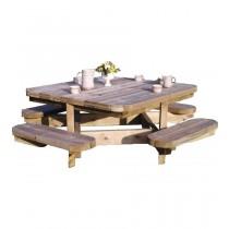 Tavolo picnic Chasse Quadrata Dimensioni esterne 138x138 cm - h 75 cm