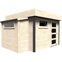 Atelier Casetta in legno Rettangolare Dimensioni esterne 369x300 cm - 11,07 m2 Spessore pannelli 28 mm