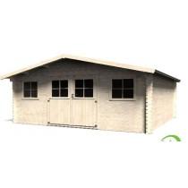 Avelin Casetta in legno Quadrata Dimensioni esterne 478x478 cm - 22,85 m2 Spessore pannelli 34 mm