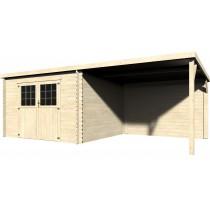 Eden Casetta in legno Rettangolare Dimensioni esterne 605x298 cm - 18,02 m2 Spessore pannelli 28 mm