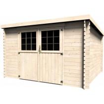 Elan Casetta in legno Rettangolare Dimensioni esterne 326x298 cm - 9,71 m2 Spessore pannelli 28 mm