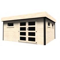 Evelin Casetta in legno Rettangolare Dimensioni esterne 450x400 cm - 18 m2 Spessore pannelli 28 mm