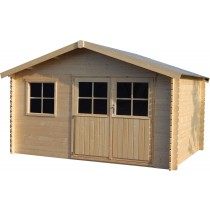 Flodeal Casetta in legno Rettangolare Dimensioni esterne 400x298 cm - 11,92 m2 Spessore pannelli 28 mm