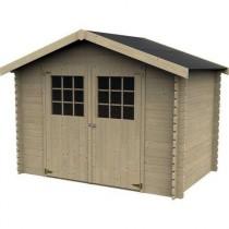 Flodovrak Casetta in legno Quadrata Dimensioni esterne 298x298 cm - 8,88 m2 Spessore pannelli 28 mm