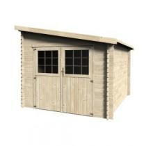 Esprit Casetta in legno Rettangolare Dimensioni esterne 268,4x326 cm - 8,74 m2 Spessore pannelli 28 mm