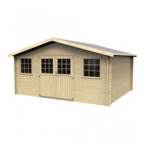 Floridan Casetta in legno Rettangolare Dimensioni esterne 478x398 cm - 19,02 m2 Spessore pannelli 28 mm