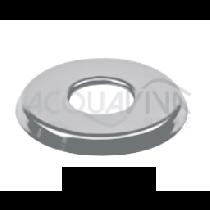 Copriflangia in acciaio inox AISI 304 (1.4301) (Confezione da 2 Pz.). Per scalette Pool's da Ø45mm.