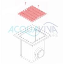 Griglia fondo piscina in plastica inox AISI-316. FORI< 8mm Astralpool