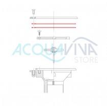 Guarnizione c/adesivo (2 pz.) per Bocchette d'ammissione a pavimento Pool's