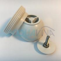 Kit sfera orientabile e ghera in ABS bianco per bocchette Pool's