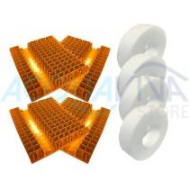 Kit Spazzole in PVC Arancione Combi Duo