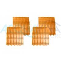 Kit spazzole in PVC Arancione duo