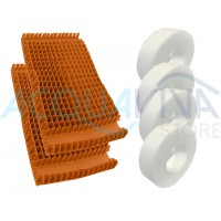 Kit spazzole in PVC Arancione Combi