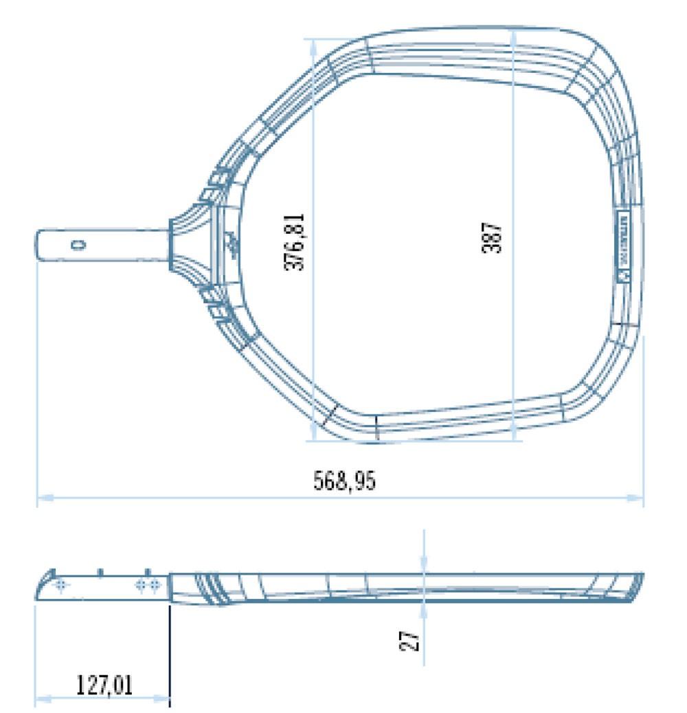 Retino modello di fondo Shark Astralpool dimensione